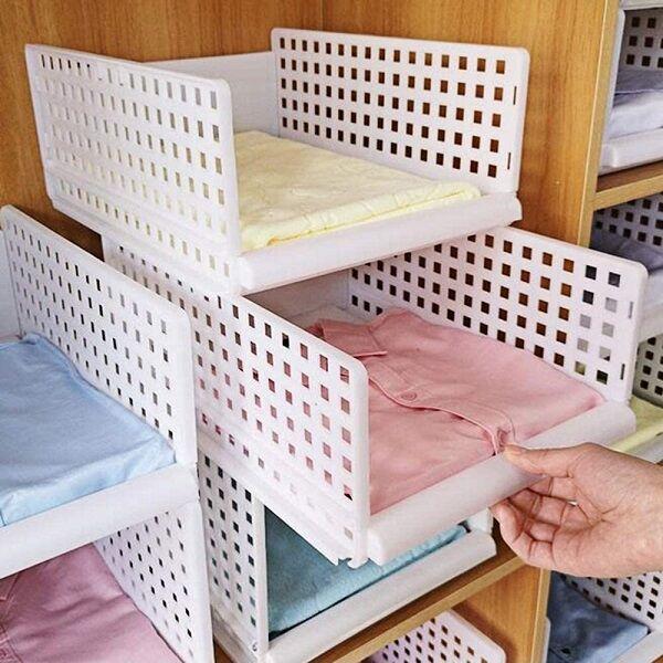 Lot De 2 Rangements transformables en tiroirs ou étagères