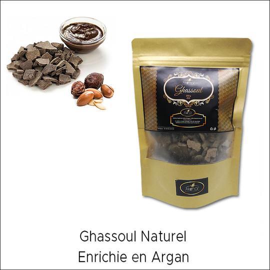 Ghassoul naturel enrichie en Argan - غاسول طبيعي بالأركان